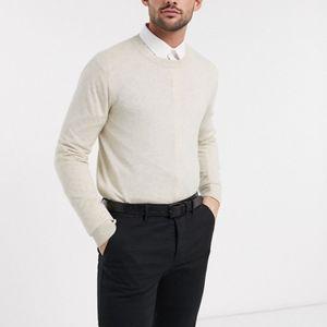 ASOS Men's Cream Crewneck Sweater